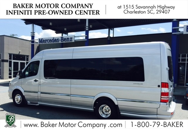 Pre owned 2015 mercedes benz sprinter airstream autobahn for Baker motor company land rover